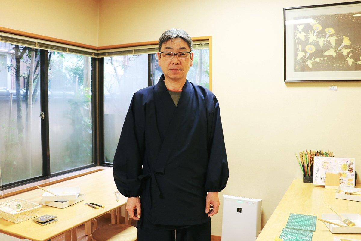 мастер-класс по золотому листу, Каназава, учитель