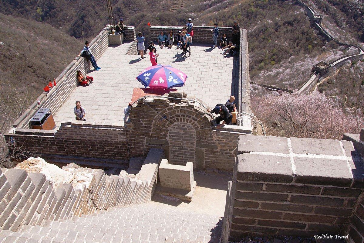 Великая Китайская Стена, участок Мутьяньюй, проход на историческую часть