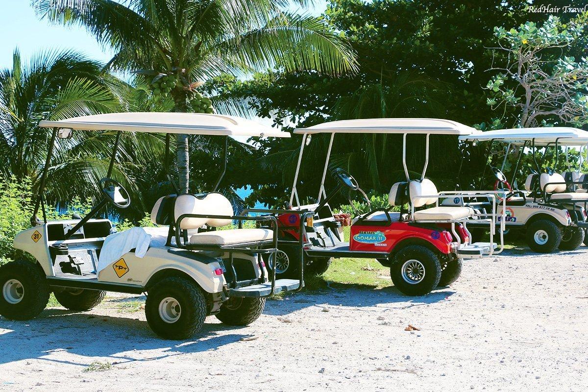 гольф-кары на Исла Мухерес