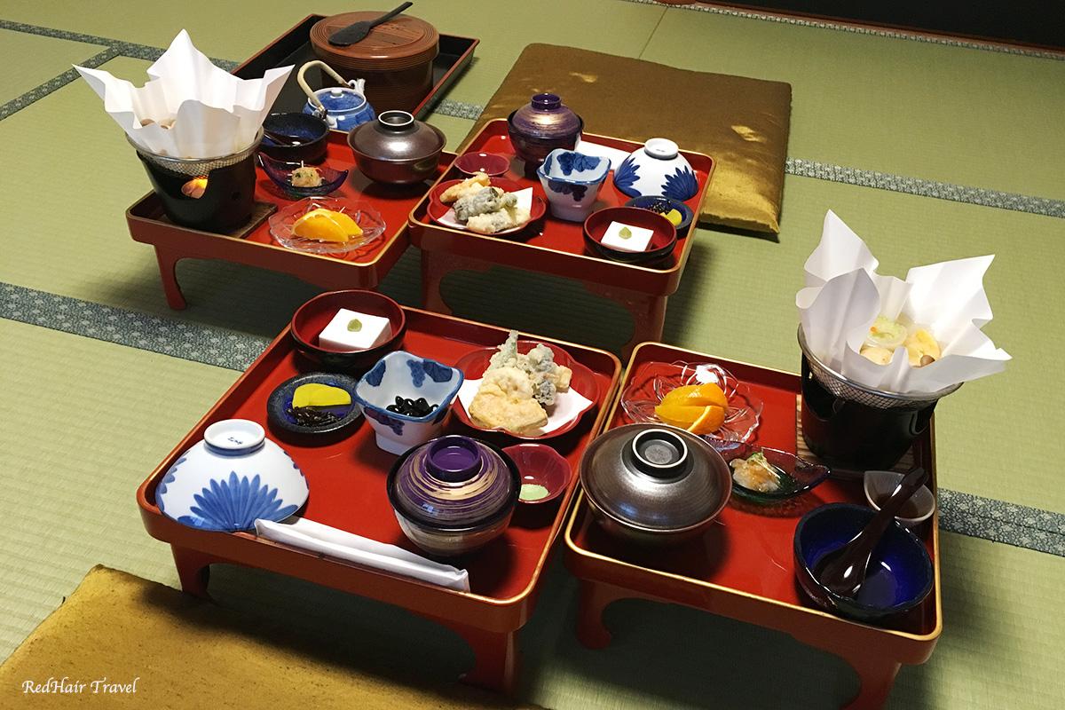 еда в райокане, Япония