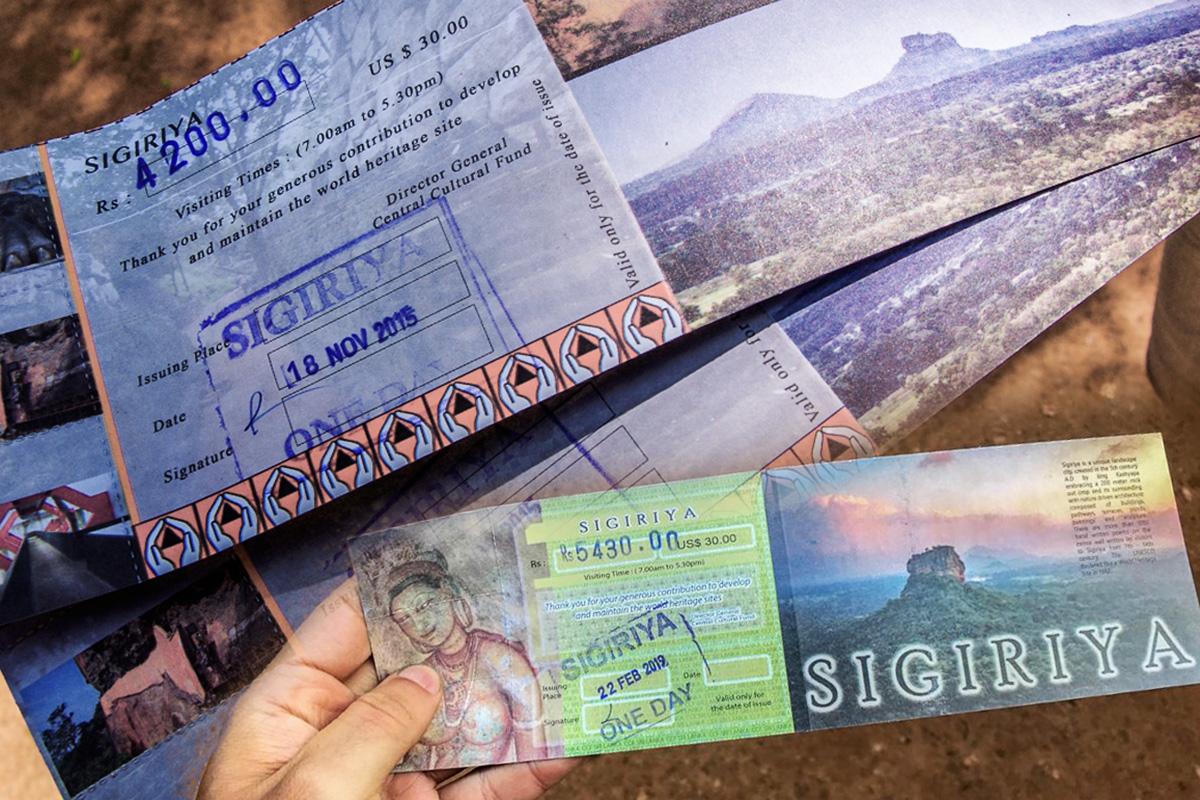 Стоимость билетов, Сигирия, Шри Ланка