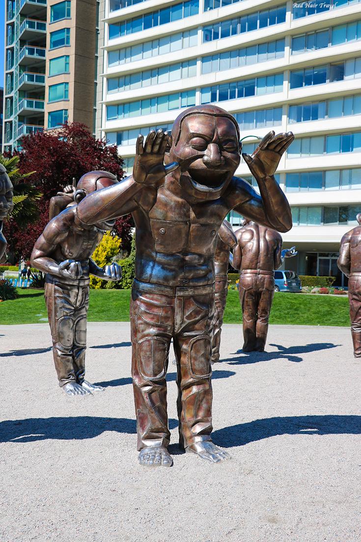 Инглиш бей, смеющиеся фигуры, Ванкувер