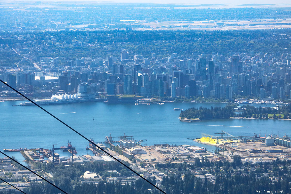 vancouver view, grouse mountain