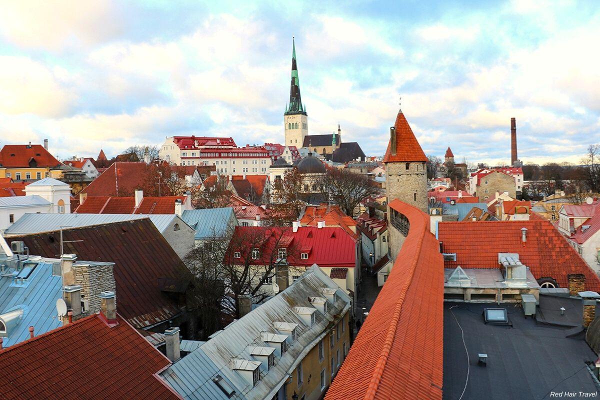 старый город, Таллинн, вид сверху